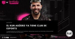 El Kun Agüero ya tiene club de eSports
